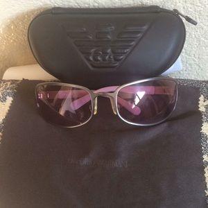 Giorgio Armani sunglasses case and cleaning cloth